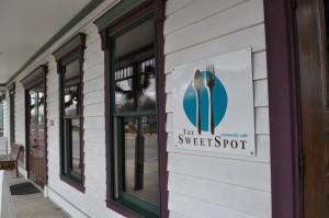 The SweetSpot Coffee Shoppe entrance