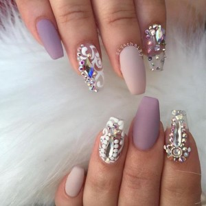 Jewels-On-Transparent-Nails
