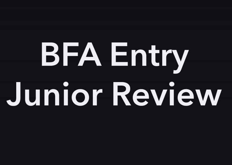 BFA-EntryJunior-Review