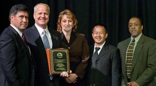 Regent Manydeeds with 2011 Award Recipients