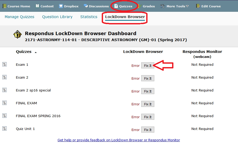 Fix It LockDown Browser