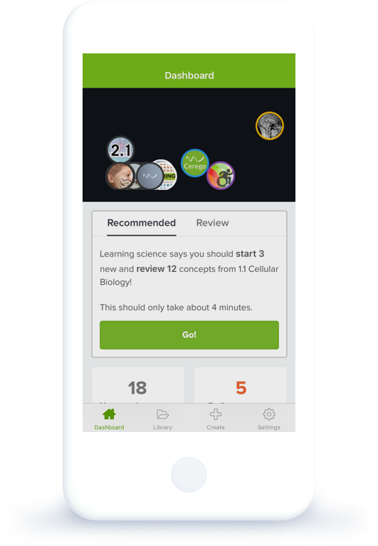 Cerego phone app