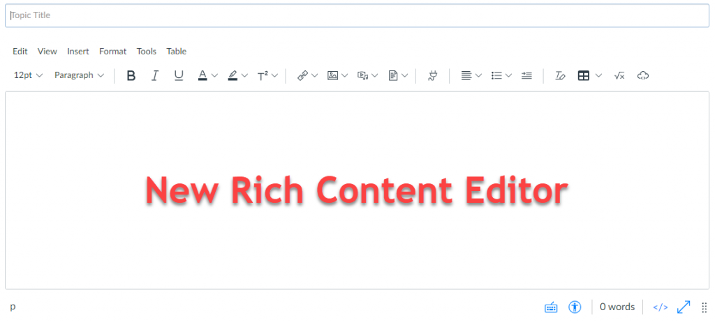 New RIch Content Editor