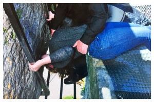 This is me kissing the Blarney Stone in Blarney, Ireland.