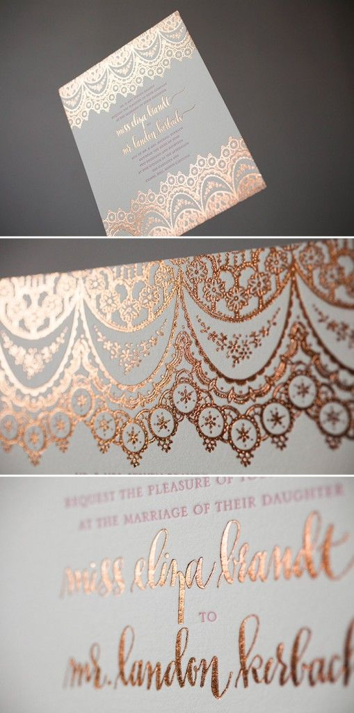 Rose Gold Invitations Janky Weddings By Valerie Jankowski