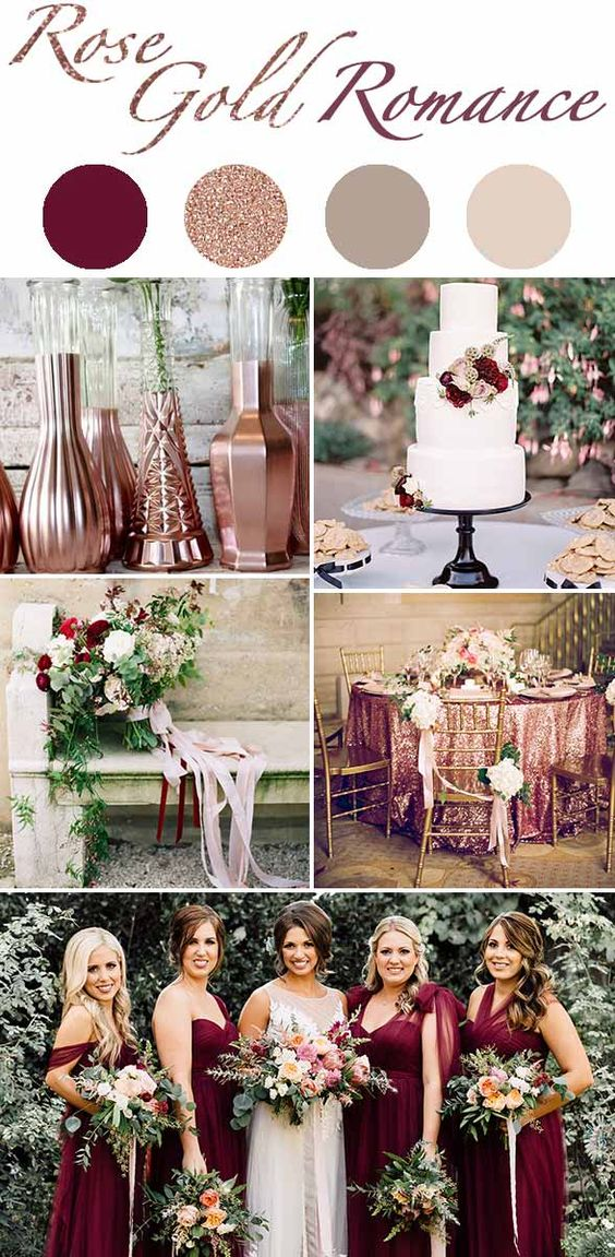 Rose Gold Wedding Theme Janky Weddings By Valerie Jankowski