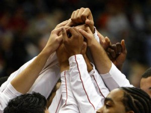 Basketball huddle-hands
