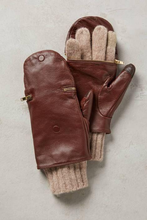 brown glittens