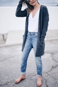 cool girl v neck outfit