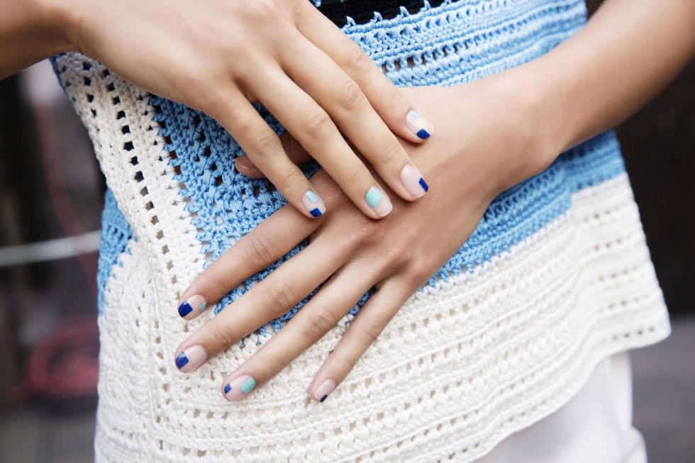 pastel block nails