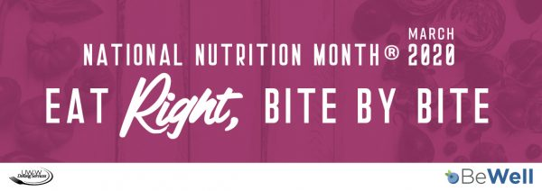 March: National Nutrition Month 2020