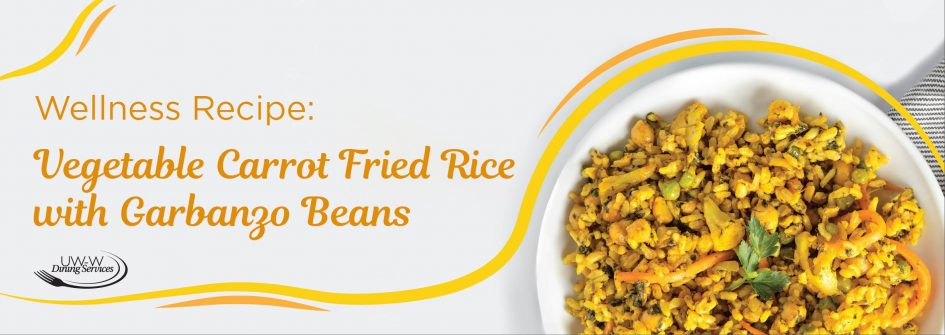 Vegetable Carrot Fried Rice with Garbanzo Beans