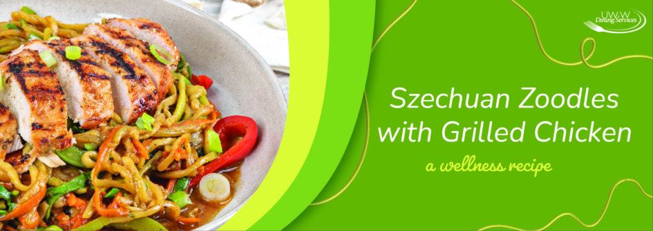 Szechuan Zoodles with Grilled Chicken