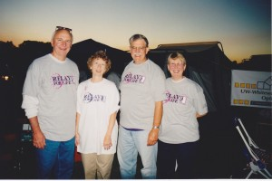 Don, Lou, Hans Hahn and Carla Cheek, Relay for Life, 2000