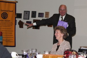 Don Running Auction at Installation Banquet, Sept. 2010