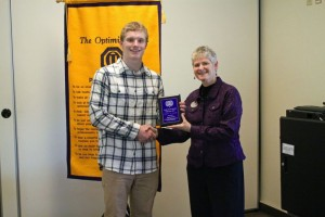 Congratulations to Jimmy Duval for receiving the Youth of the Month Plaque!