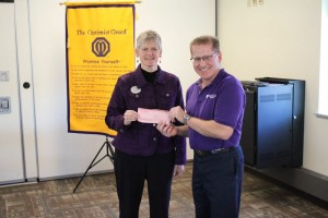 Jim McLernon, a UW-W faculty member, presented a generous $100 check to the Community Optimist Club for an upcoming sports fundraiser. We accepted this gift with much gratitude!