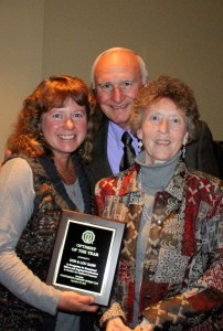 Therese Kennedy Presents Don and Lou with Optimist of the Year Plaque, 2012