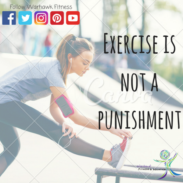 Exercise is not punishment image